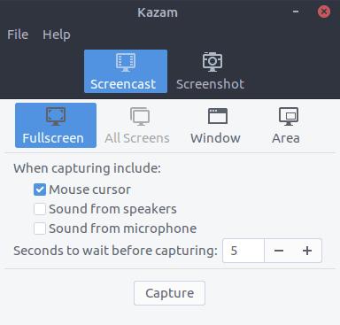 Ubuntu安装屏幕录像工具Kazam