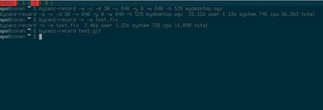 Ubuntu使用Byzanz创建OGG和FLV格式的视频和音频