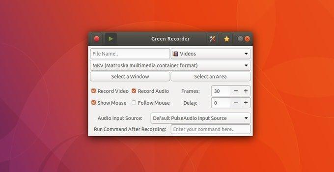 Ubuntu使用Green Recorder截取屏幕