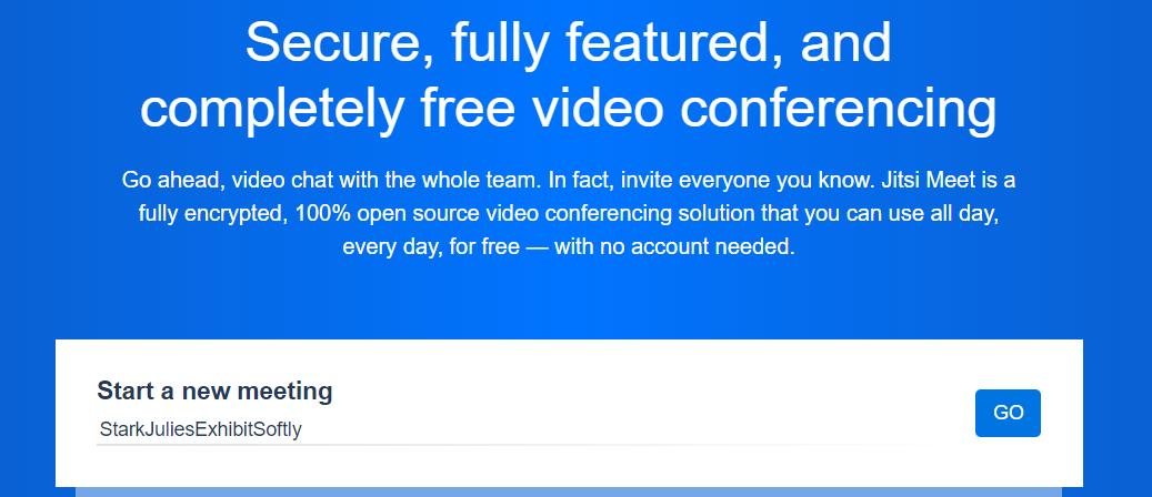 Jitsi Meet-免费和开源的视频会议工具