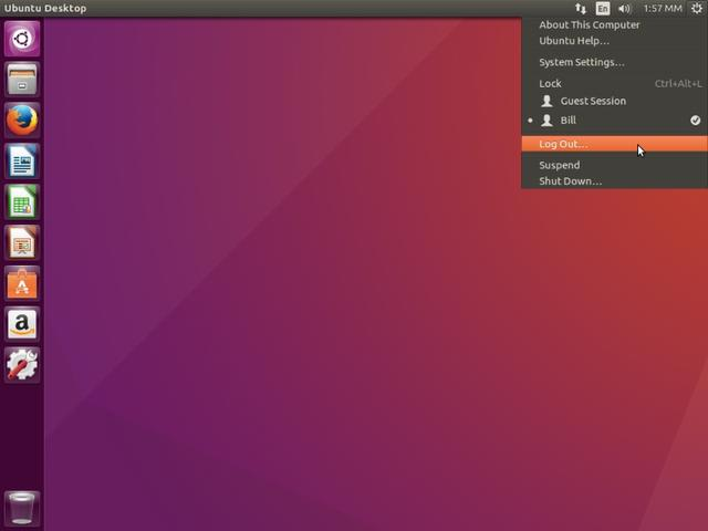 Ubuntu unity默认桌面,风格独特